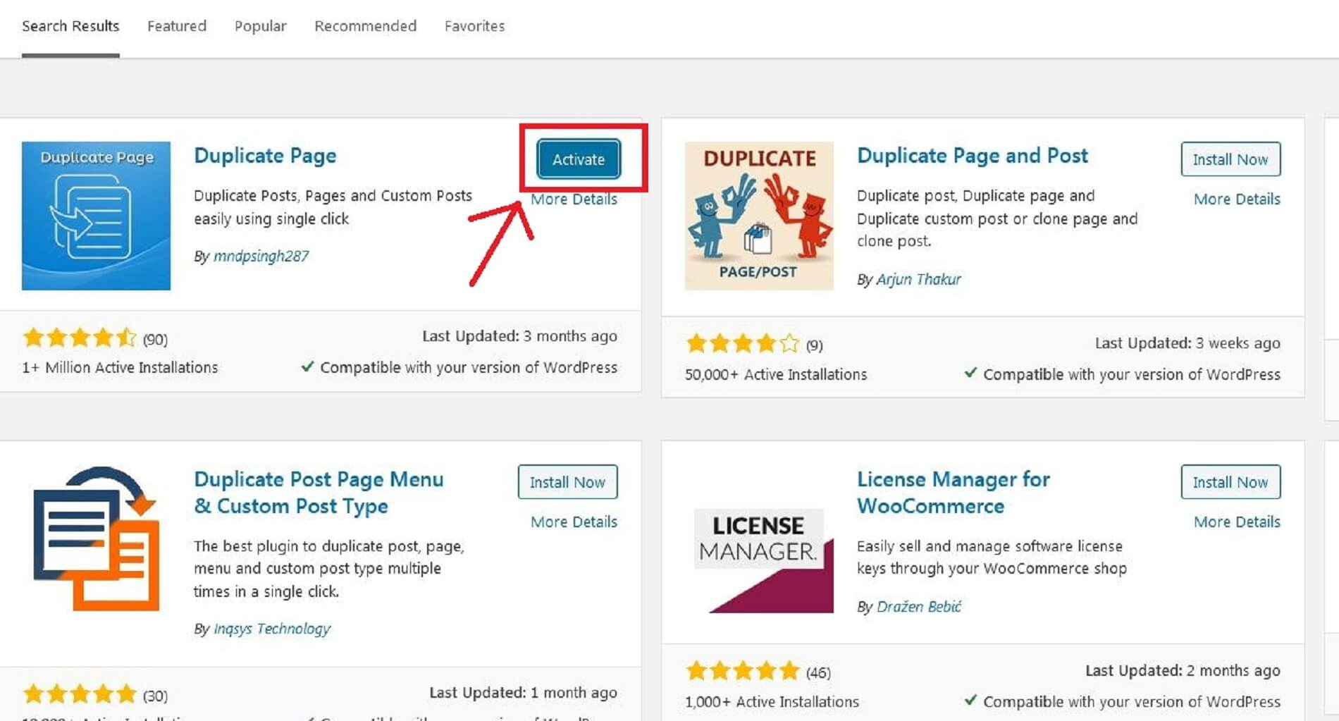 how to duplicate a wordpress page